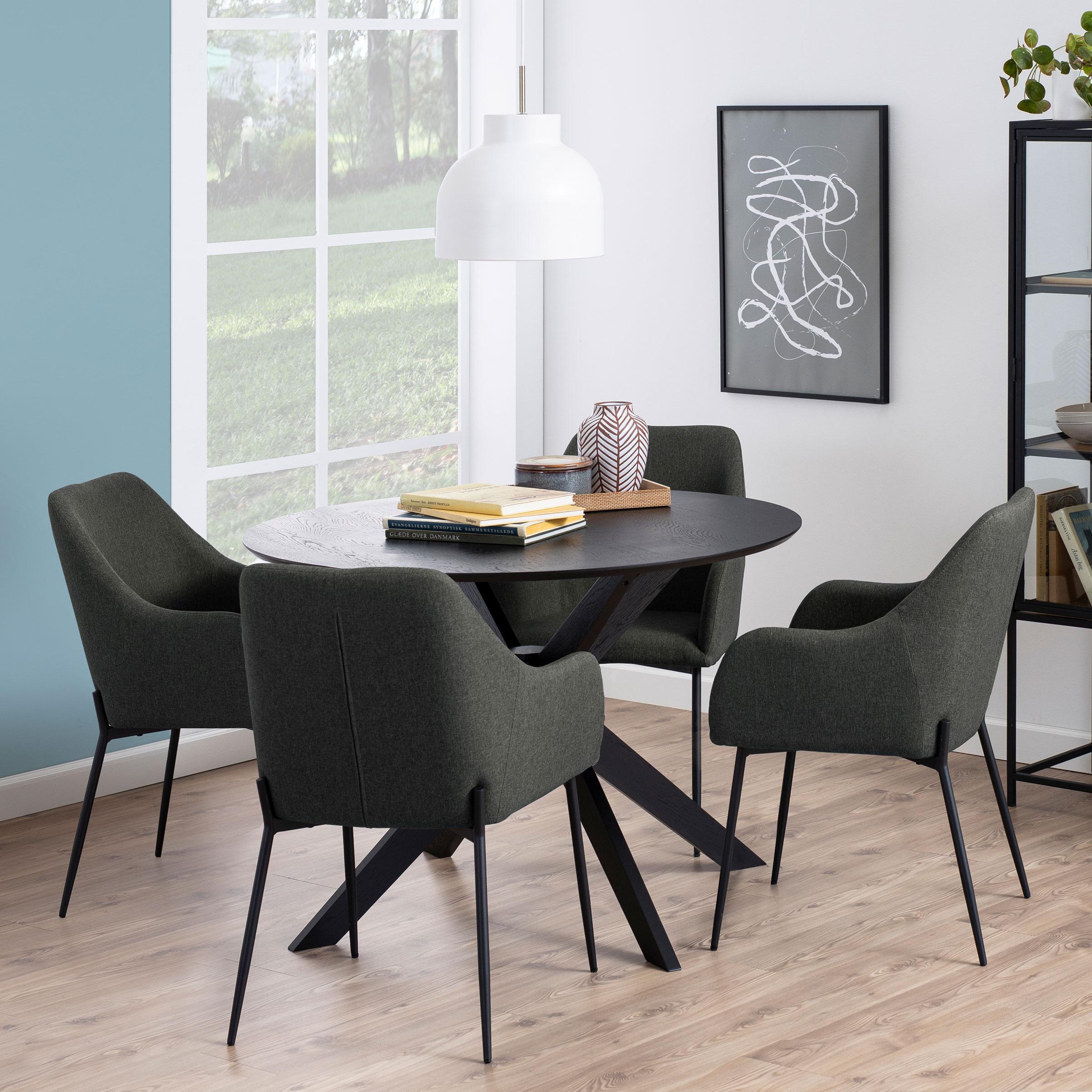 Bendt Ronde Eettafel 'Evald' 105cm, kleur Zwart