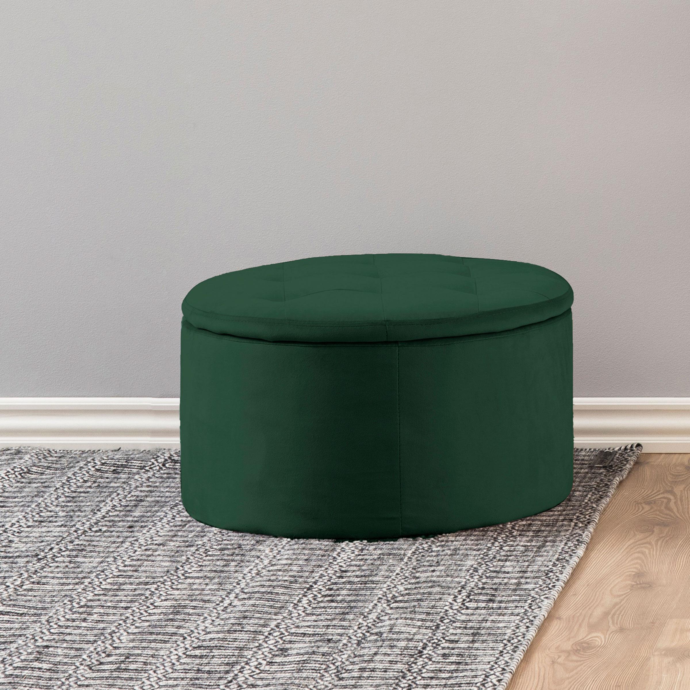 Bendt Poef 'Elith' Velvet, kleur Forest Green