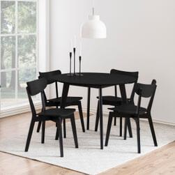 Bendt Ronde Eettafel 'Torkil' 105cm, kleur Zwart