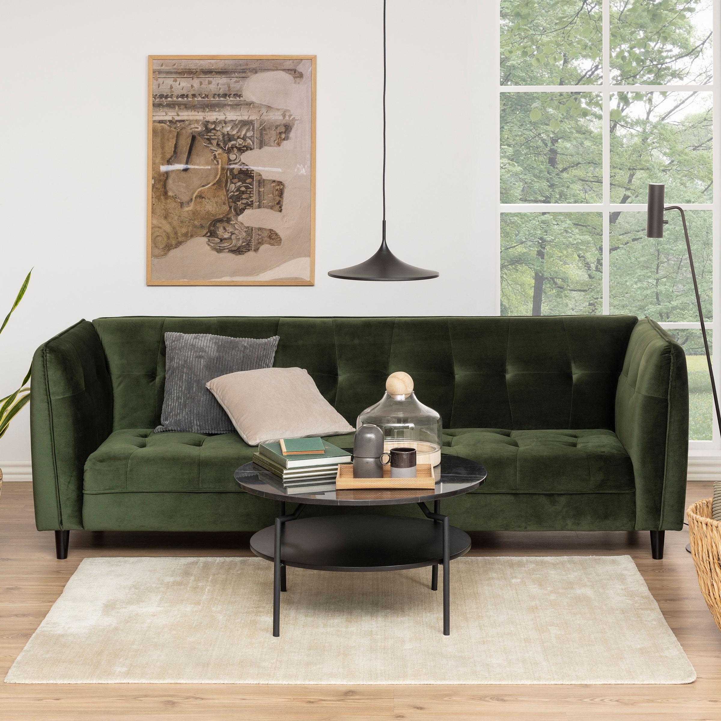 Bendt Slaapbank 'Erika' Velvet, kleur Forest Green