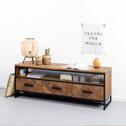 SoHome TV-meubel 'Hawaii' Visgraat Teak en staal, 150 cm