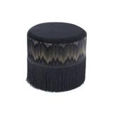 Kayoom Poef 'Cleopatra' 41cm, kleur zwart