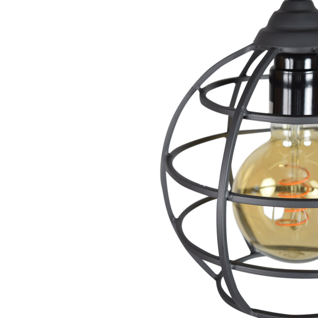 Urban Interiors hanglamp Globe 1-lichts Ø19, kleur Vintage Black