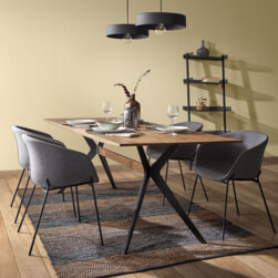 Kave Home Eettafel 'Amethist' 160 x 90cm, kleur Donker Eiken