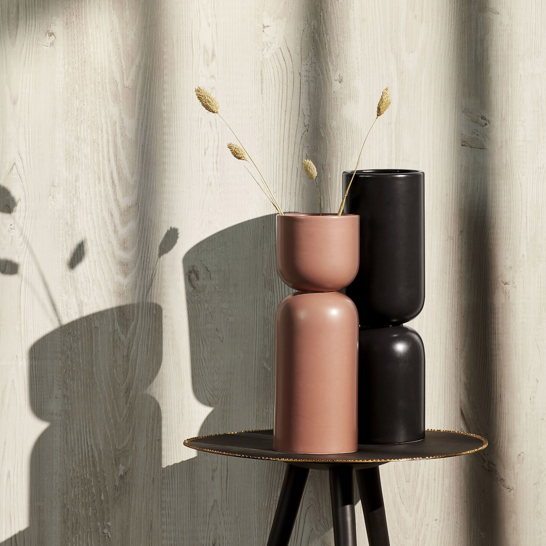 Kave Home Vaas 'Anni' kleur Zwart
