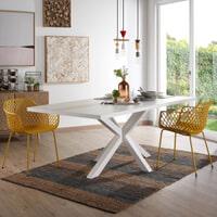Kave Home Eettafel 'Argo' wit gelakt, 180 x 100cm