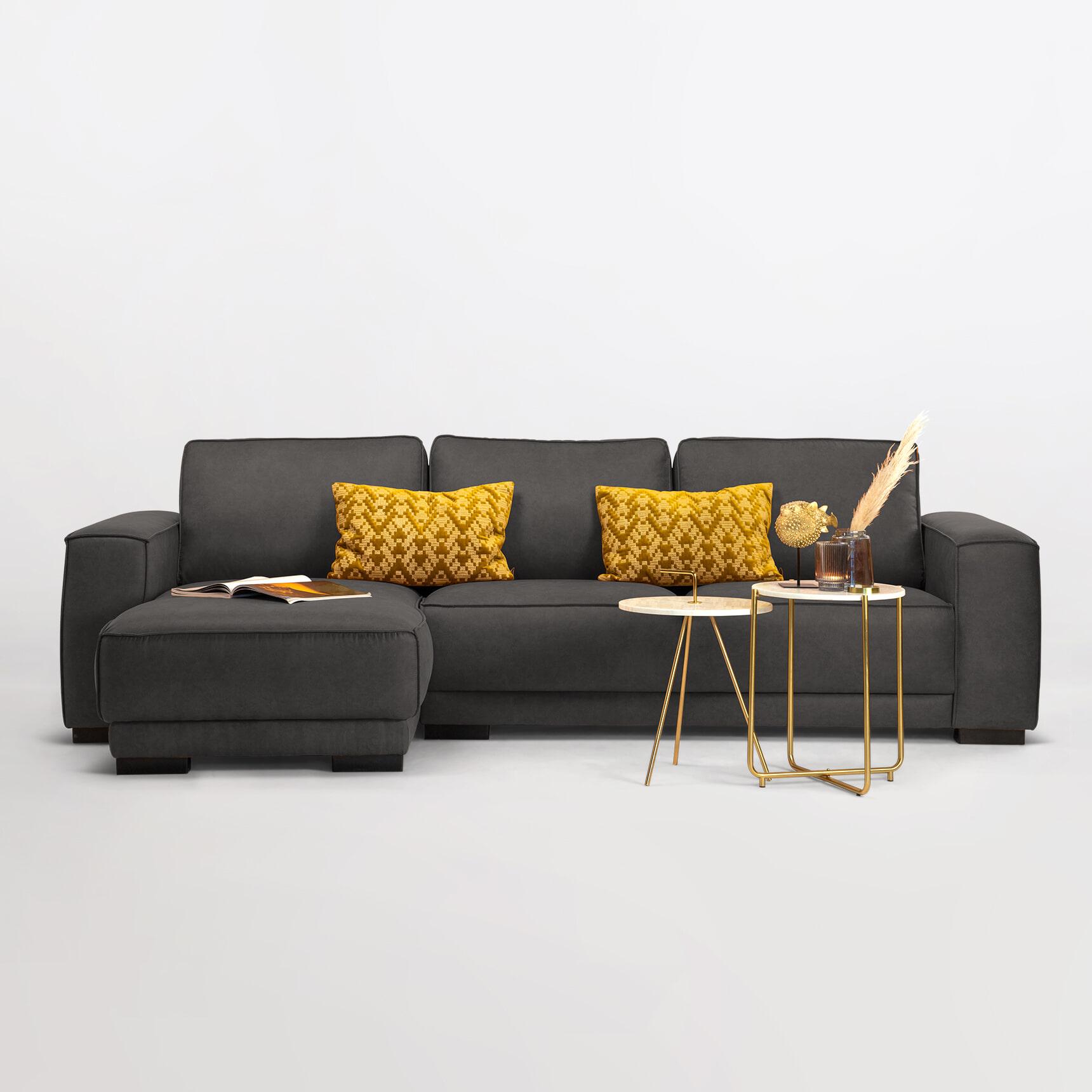 Sohome Loungebank 'Stacie' Links, kleur antraciet