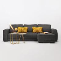 Sohome Loungebank 'Stacie' Rechts, kleur antraciet