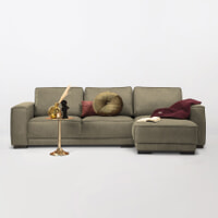Sohome Loungebank 'Stacie' Rechts, kleur army