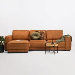 SoHome Loungebank 'Stacie' Links, kleur cognac