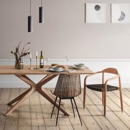 Kave Home Eettafel 'Armande' Licht Eiken
