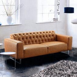 Artistiq Bank 'Jude' 3-zits, kleur cognac