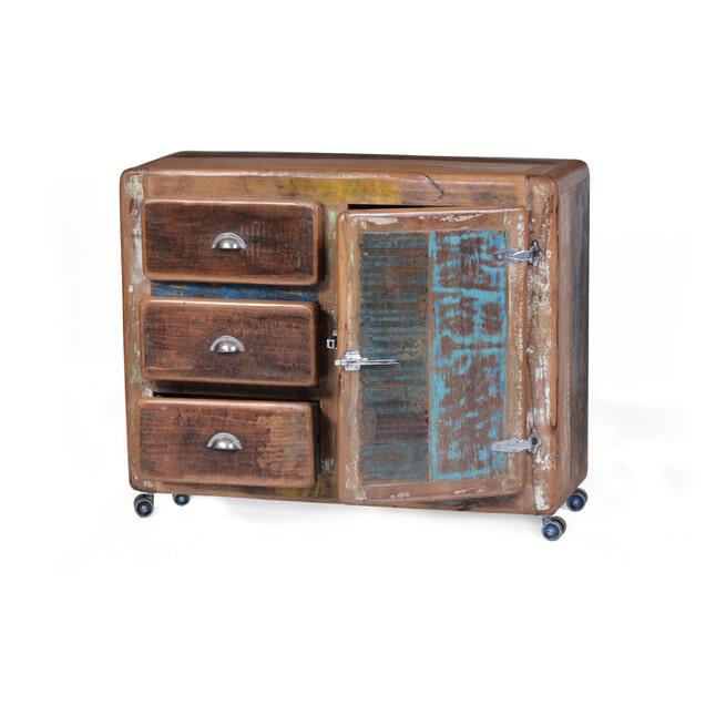 Artistiq Dressoir 'Fridge' 100cm, met 1 deur en 3 laden