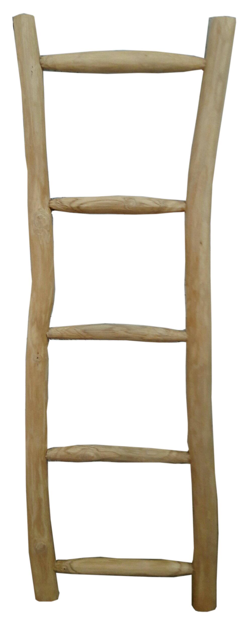 Artistiq Ladder 'Teak' 150cm Woonaccessoires | Decoratie vergelijken doe je het voordeligst hier bij Meubelpartner