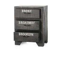 Artistiq Nachtkastje 'Bronx' met 3 laden