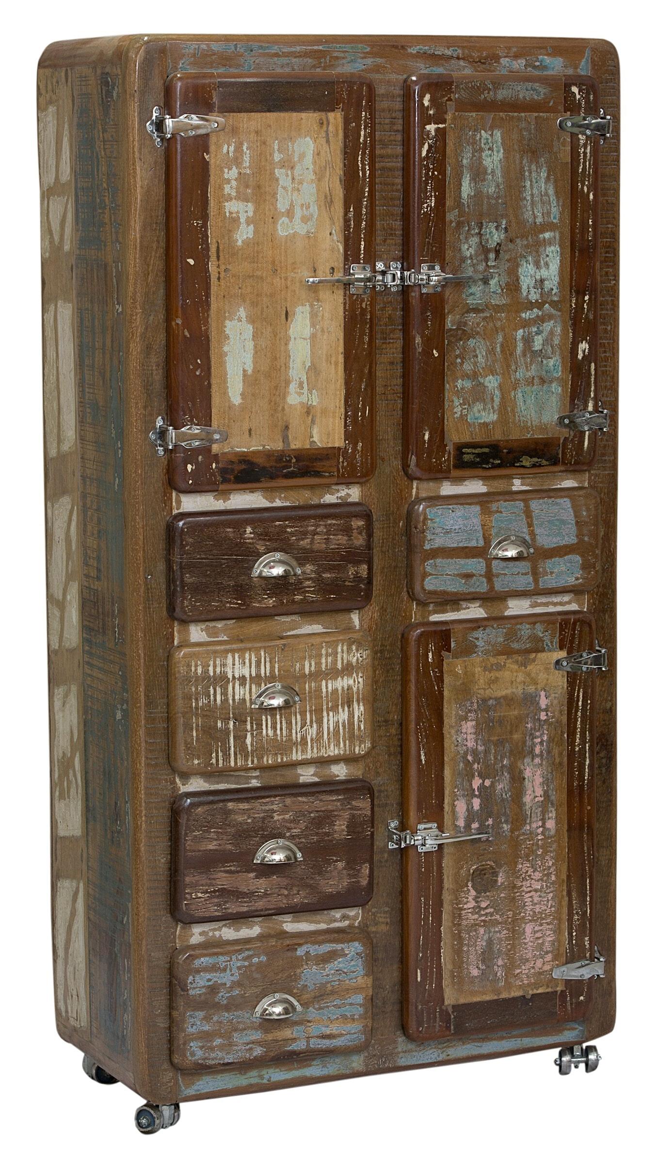 Artistiq Opbergkast Fridge met 3 deuren en 5 laden