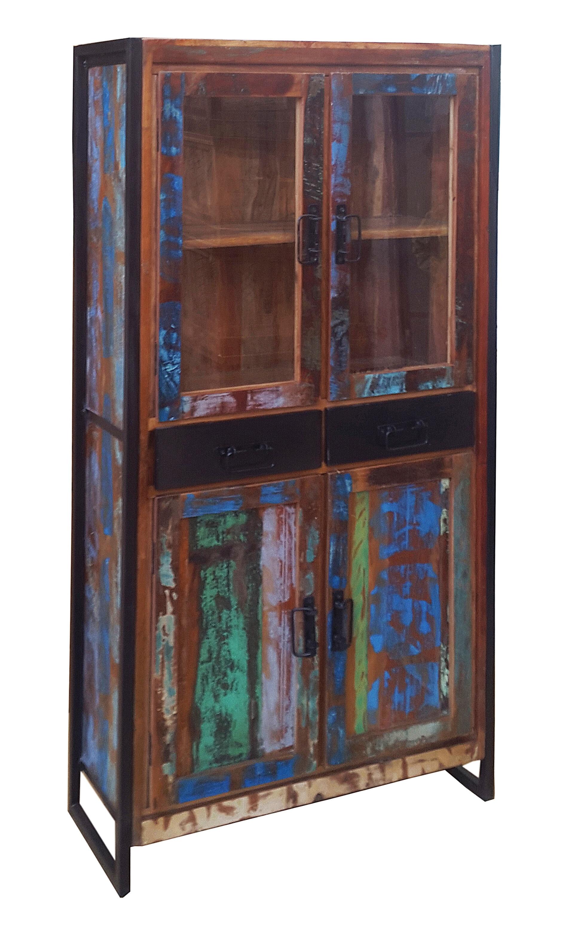 Artistiq Vitrinekast 'Bali Vintage', 175 x 86cm