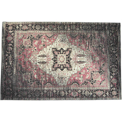 Artistiq Vloerkleed 'Annaleigh' 170 x 240cm, kleur zwart / roze