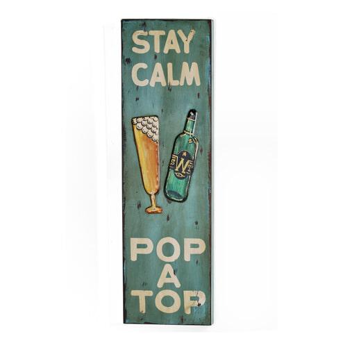 Artistiq Wandpaneel 'Stay Calm'