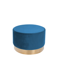Kayoom Poef 'Nina' 55cm, kleur blauw 510 Blauw