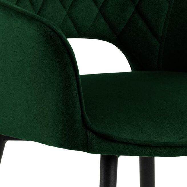 Bendt Barkruk 'Bent' Velvet, kleur Donkergroen (zithoogte 75,5cm)