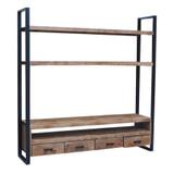 LivingFurn TV-meubel 'Strong High' Mangohout en staal, 200 cm