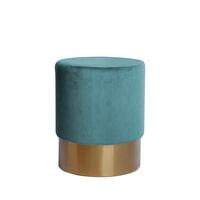 Kayoom Poef 'Nano' 35cm, kleur turquoise