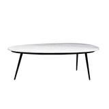 LivingFurn Salontafel 'Organic' kleur White & Black, 110 x 55cm