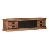 LivingFurn TV-meubel 'Tamar' Mangohout en staal, 200cm