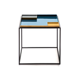 Kayoom Bijzettafel 'Famosa' kleur blauw, 40 x 40cm