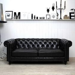 Bank 'Anders' 3-zits, kleur vintage zwart