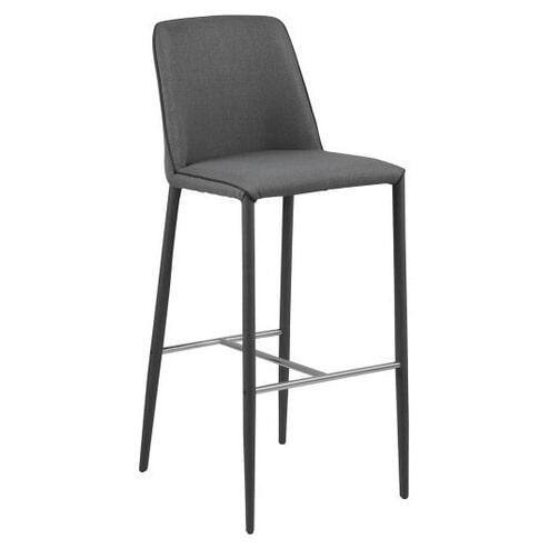 Bendt Barkruk 'Emilie' (zithoogte 76cm), kleur donkergrijs