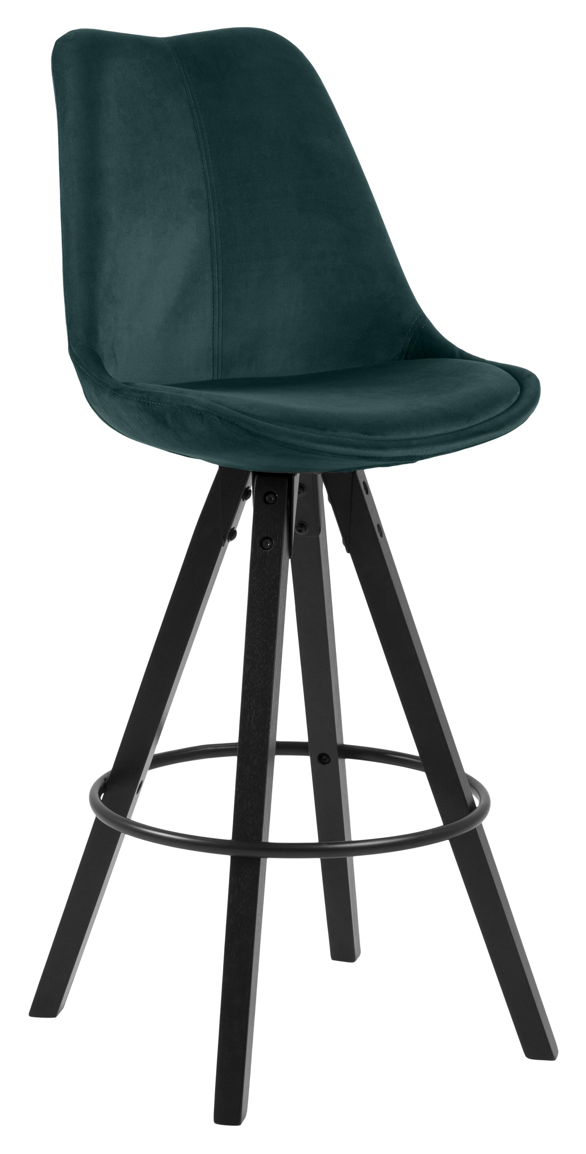 Bendt Barkruk 'Lærke' Velvet (zithoogte 75cm), kleur Bottle Green
