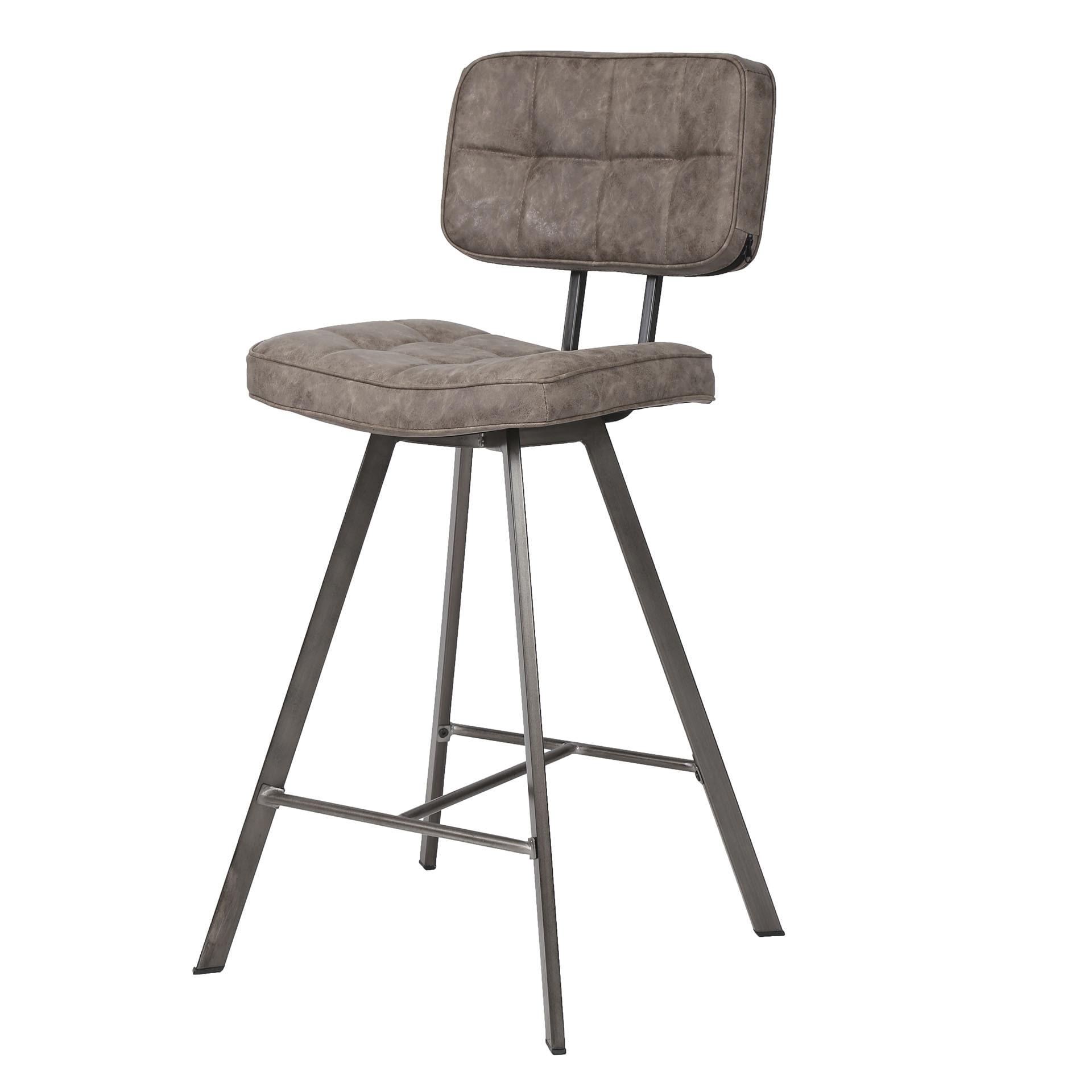 Barstoel 'Ginger' Wax / PU, kleur bruin (zithoogte 68cm) Zitmeubelen | Barkrukken & Barstoelen vergelijken doe je het voordeligst hier bij Meubelpartner
