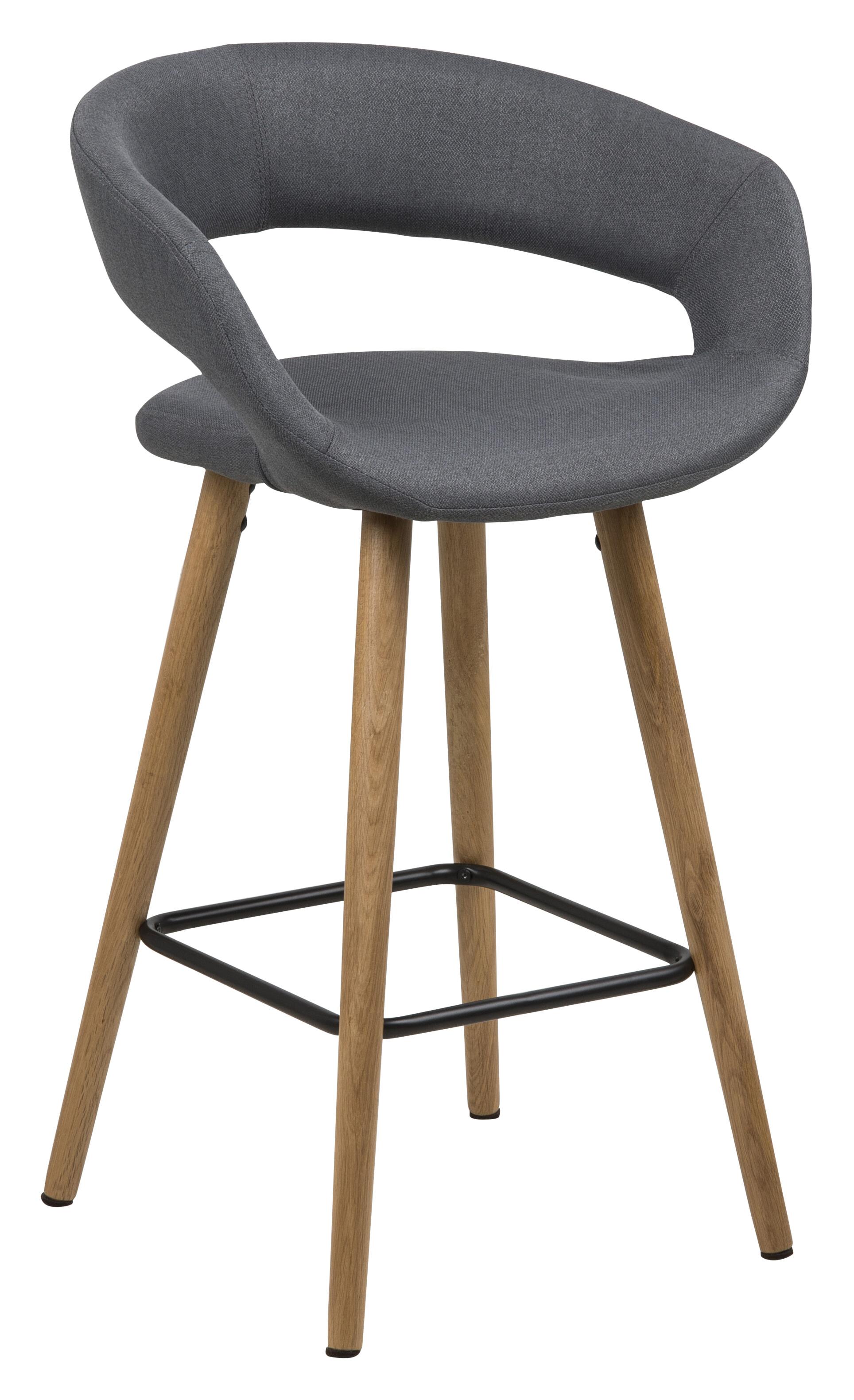 Barstoel 'Pia' (zithoogte 65,5 cm), kleur donkergrijs
