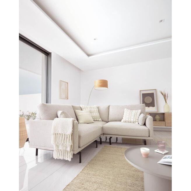 Kave Home Plaid 'Beva' kleur Wit
