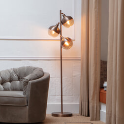 BePureHome Vloerlamp 'Split', kleur Bruin