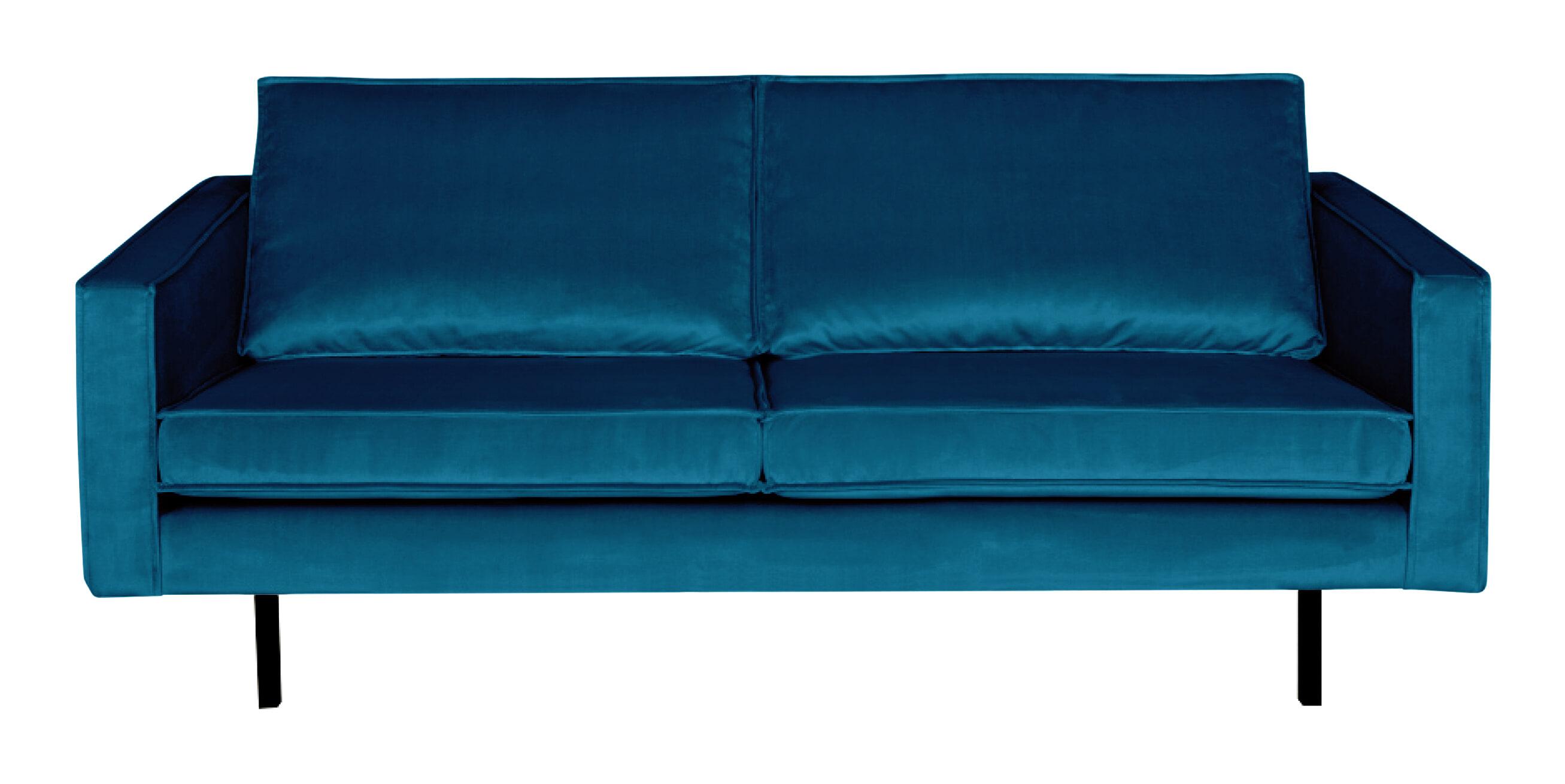 BePureHome Bank 2,5-zits 'Rodeo' Velvet, kleur Blauw