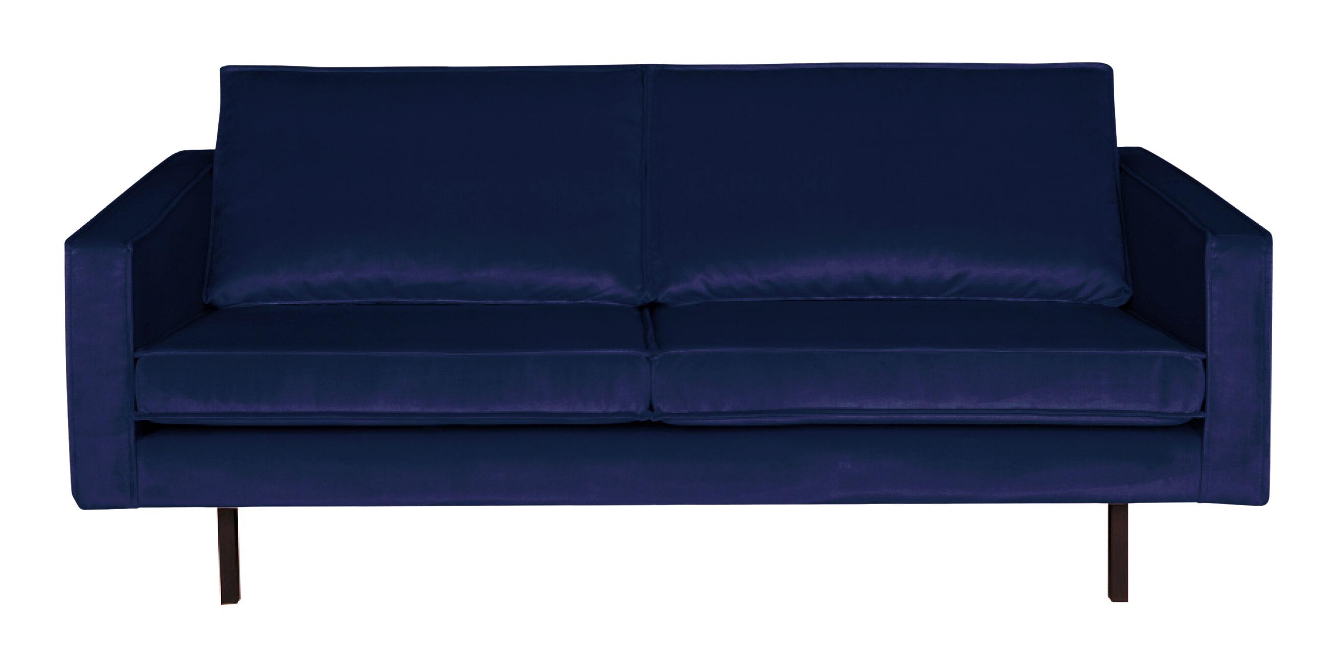 BePureHome Bank 2,5-zits 'Rodeo' Velvet, kleur Donkerblauw