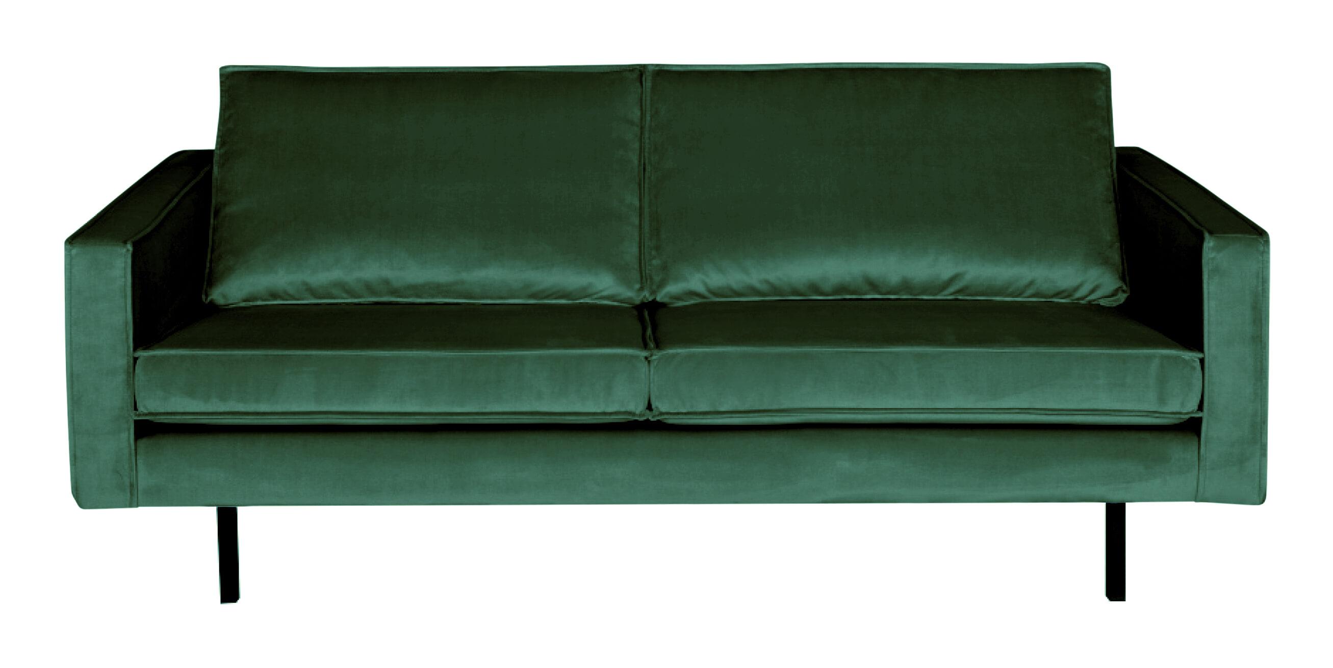BePureHome Bank 2,5-zits 'Rodeo' Velvet, kleur Forest Green met voordeel snel in huis via Meubel Partner