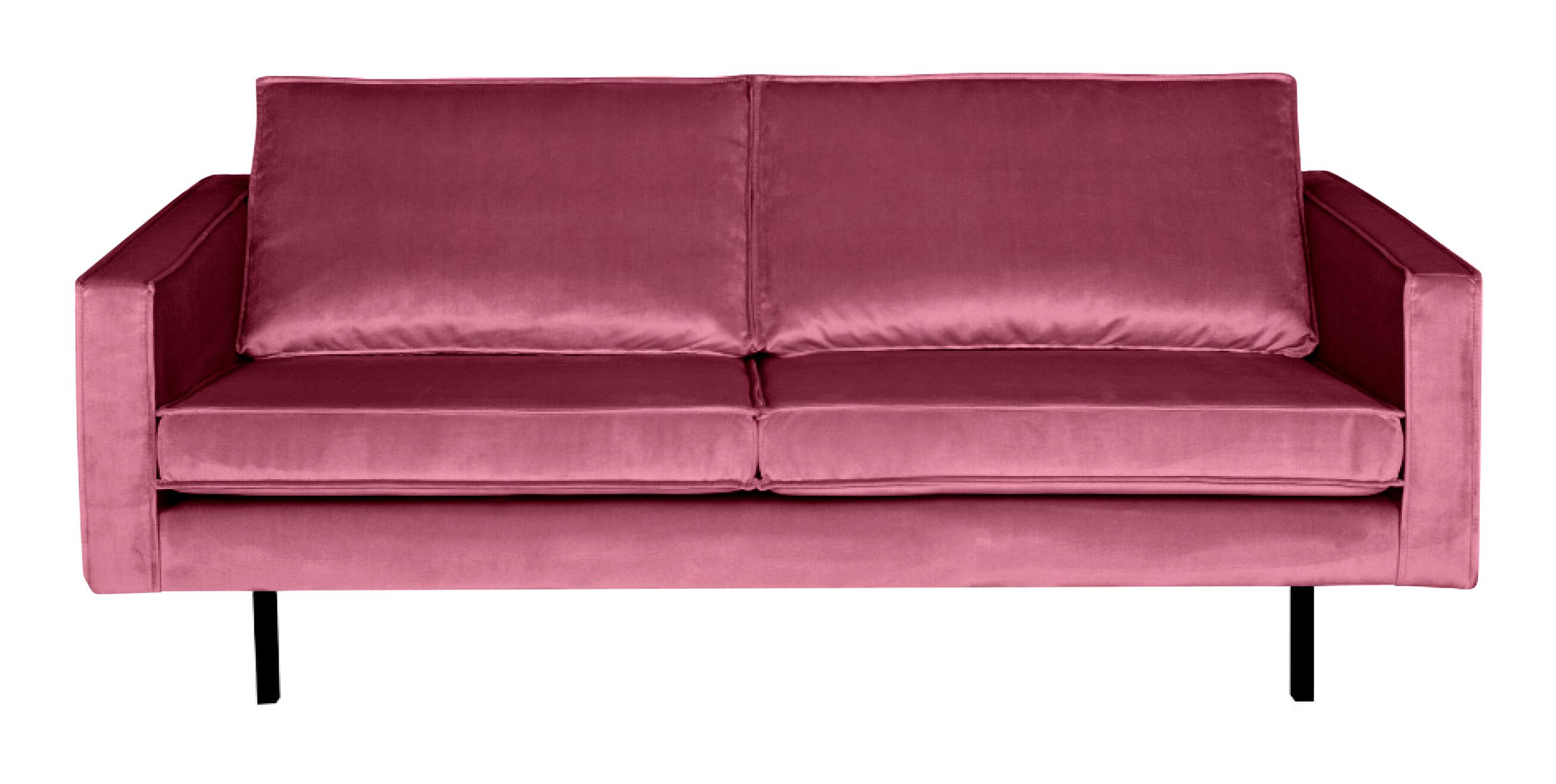 BePureHome Bank 2,5-zits 'Rodeo' Velvet, kleur Roze