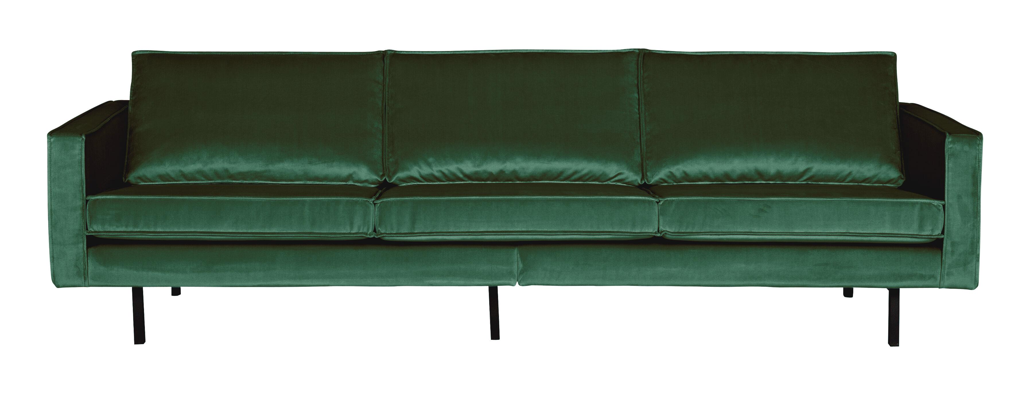 BePureHome Bank 3-zits 'Rodeo' Velvet, kleur Forest Green