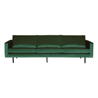 BePureHome Bank 3-zits 'Rodeo' Velvet, kleur Forest Green