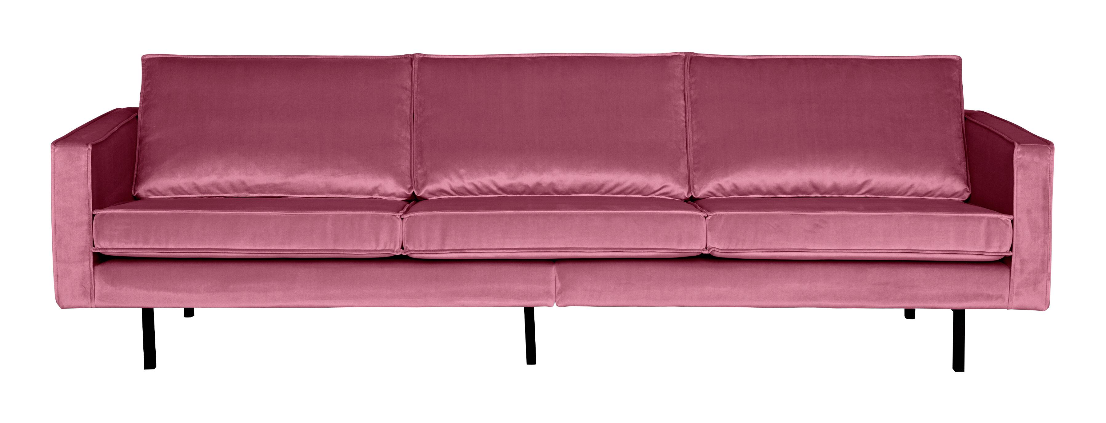 BePureHome Bank 3-zits 'Rodeo' Velvet, kleur Roze