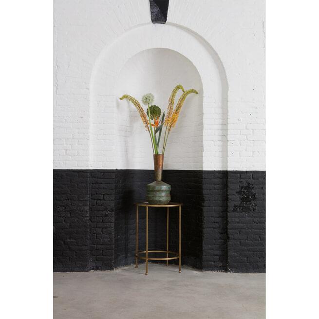 BePureHome Bijzettafel 'Goddess' 45,5cm, kleur Antique Brass