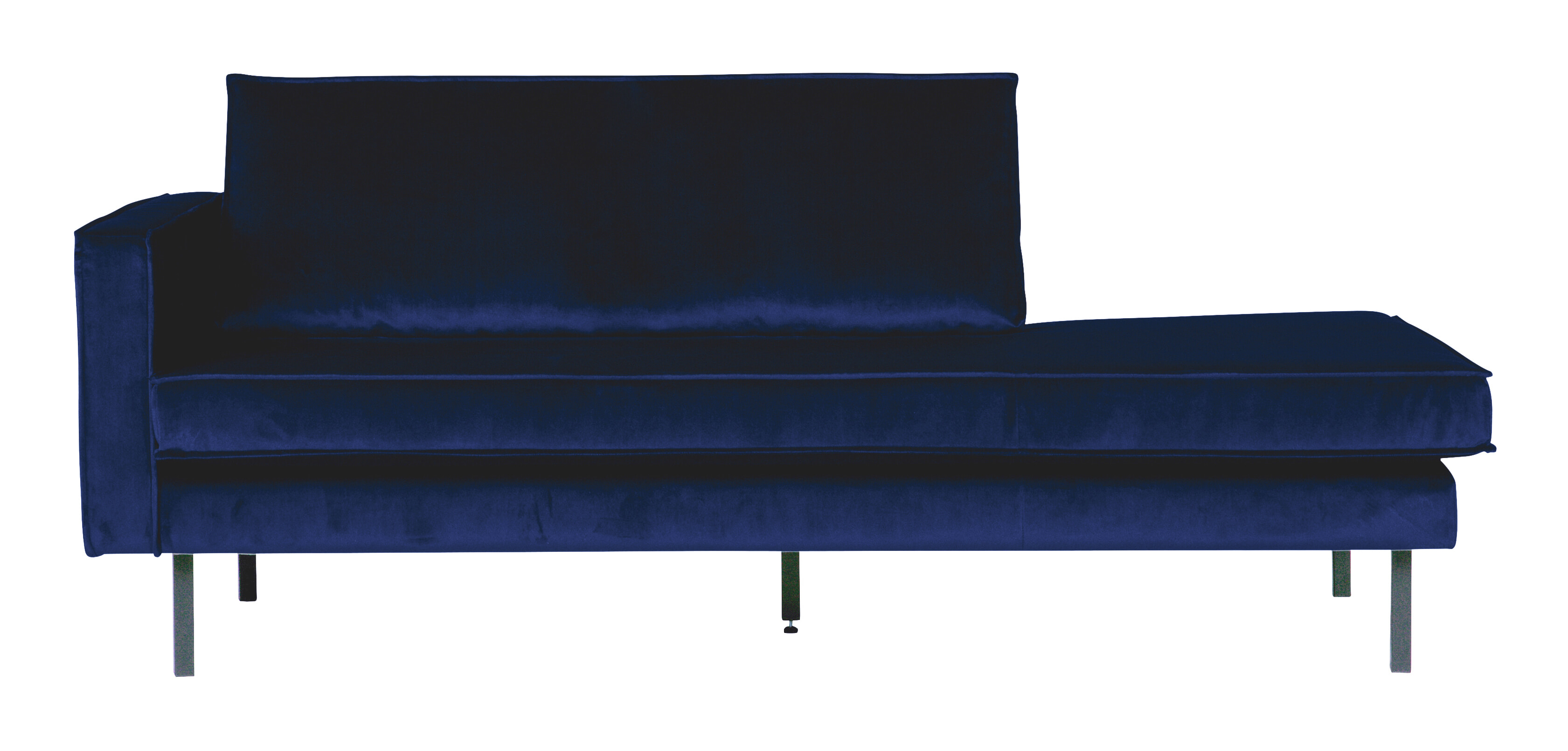 BePureHome Daybed 'Rodeo' Links, Velvet, kleur Donkerblauw
