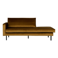 BePureHome Daybed 'Rodeo' Links, Velvet, kleur Honey (geel)