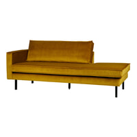 BePureHome Daybed 'Rodeo' Links, Velvet, kleur Oker