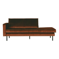 BePureHome Daybed 'Rodeo' Links, Velvet, kleur Roest