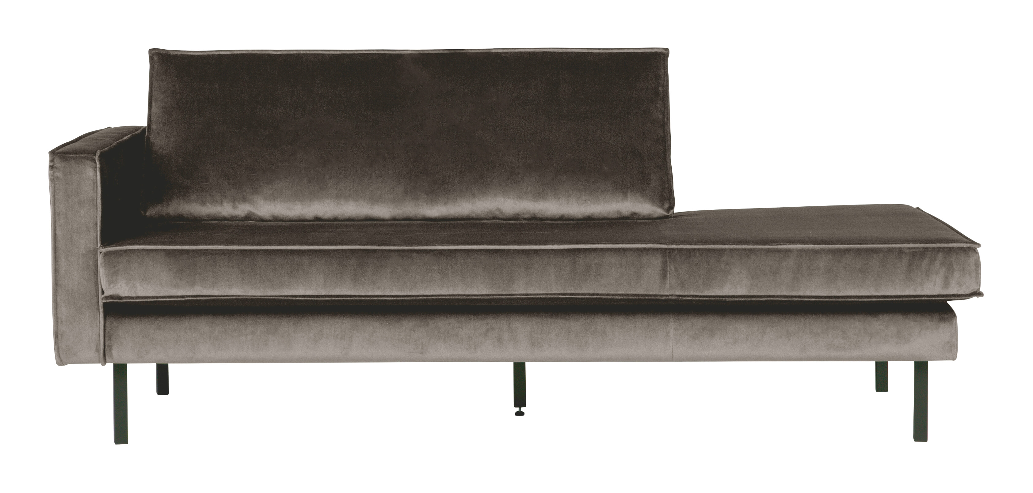 BePureHome Daybed 'Rodeo' Links, Velvet, kleur Taupe